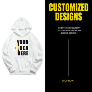 Your Idea Here - Black and White Boys and Girl Custom Hoodies